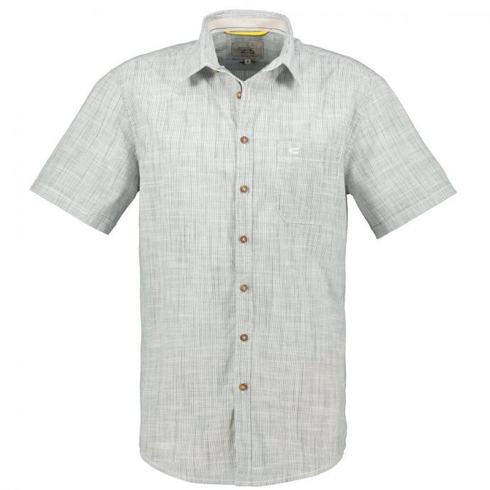 Gestreiftes Freizeithemd,  kurzarm blau/weiß_19/4020 | 3XL