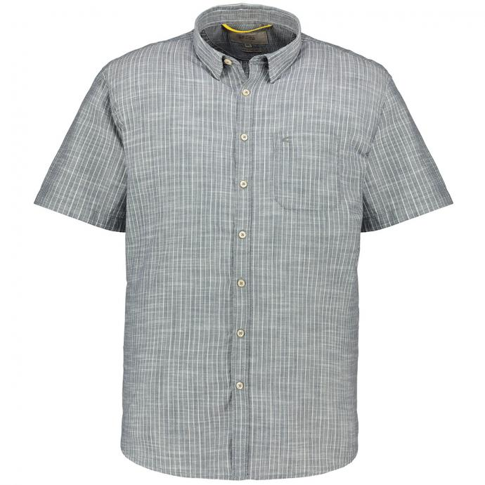 Modisch gestreiftes Kurzarmhemd blau/weiß_16/4020 | XXL