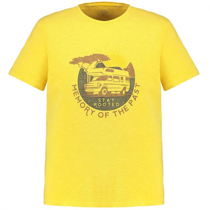 "Modisches T-Shirt mit ""STAY ROOTED"" Print gelb_62   3XL"
