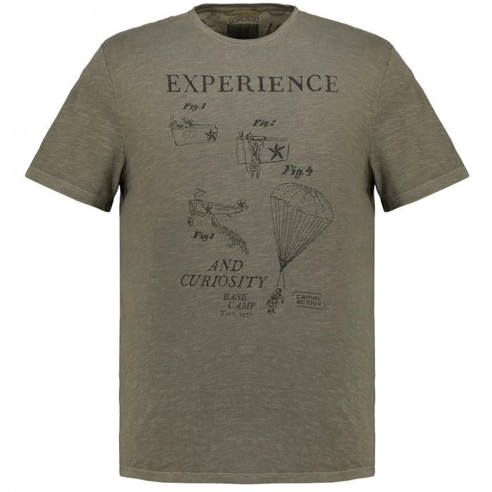 "T-Shirt ""Experience"" oliv_75 | 3XL"