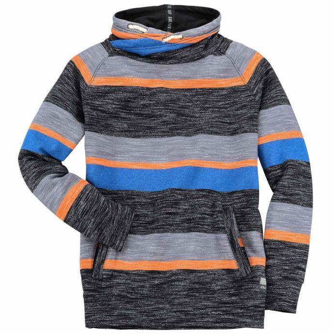 Sweatshirt mit Schalkragen grau_98G0 | 3XL