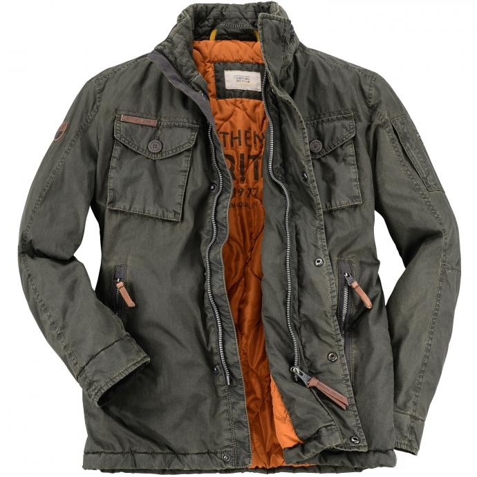 Trendige Jacke in moderner Used-Optik oliv_360 | 64