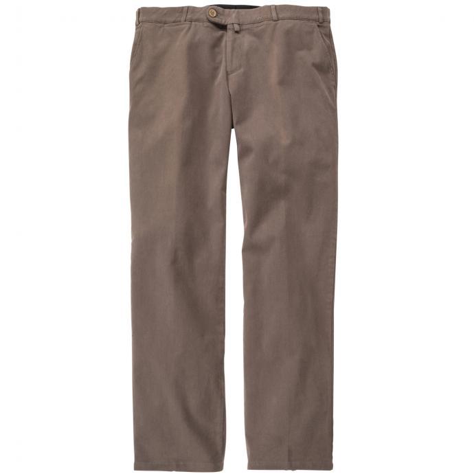 Klassische Baumwollhose mit elastischem Kurzleib-Bund schlamm_46   29