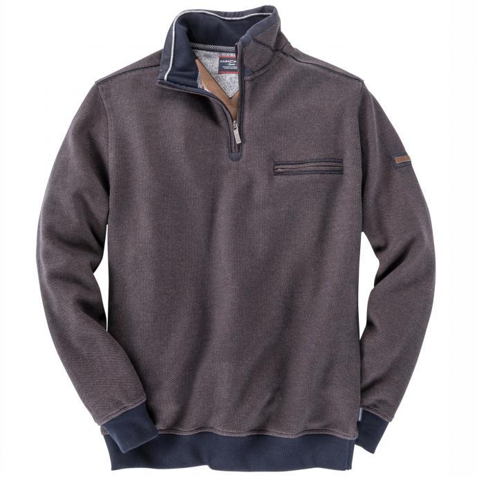 Sweatshirt mit Troyer-Kragen dunkelblau_135   3XL