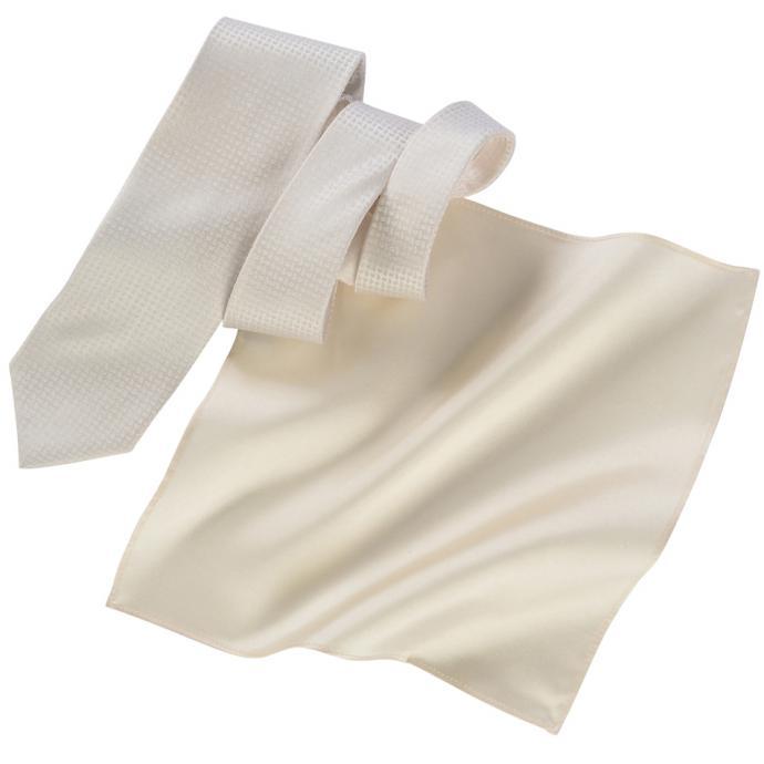 Krawatte mit Paisleymuster und Tuch creme_FB1 | One Size
