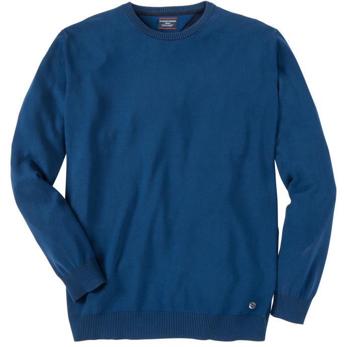 Leichter Baumwollpullover blau_104 | 3XL