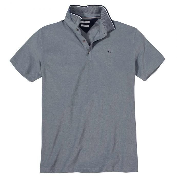 Angenehm leichtes Poloshirt, bügelfrei blau_2300 | 5XL