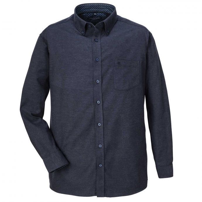 Weiches  Cashmere-Flanellhemd mit Button-Down-Kragen graublau_101/39 | XXL