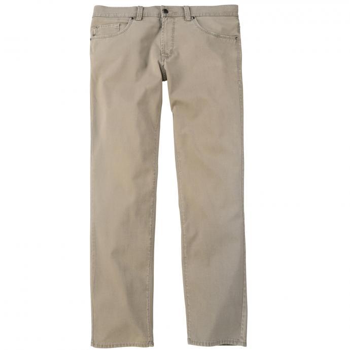 Leichte Baumwollhose mit Struktur beige_23 | 62
