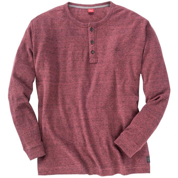 Pullover mit Knöpfen rot_45W0   4XL