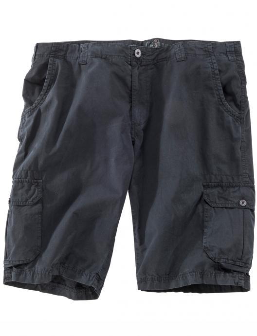 Cargo-Shorts aus Baumwolle schwarz_099 | W50