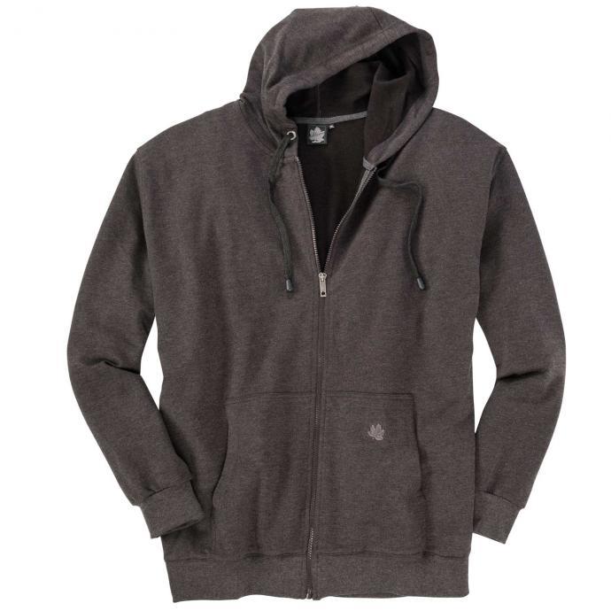 Sweat-Jacke mit Kapuze grau_70   3XL