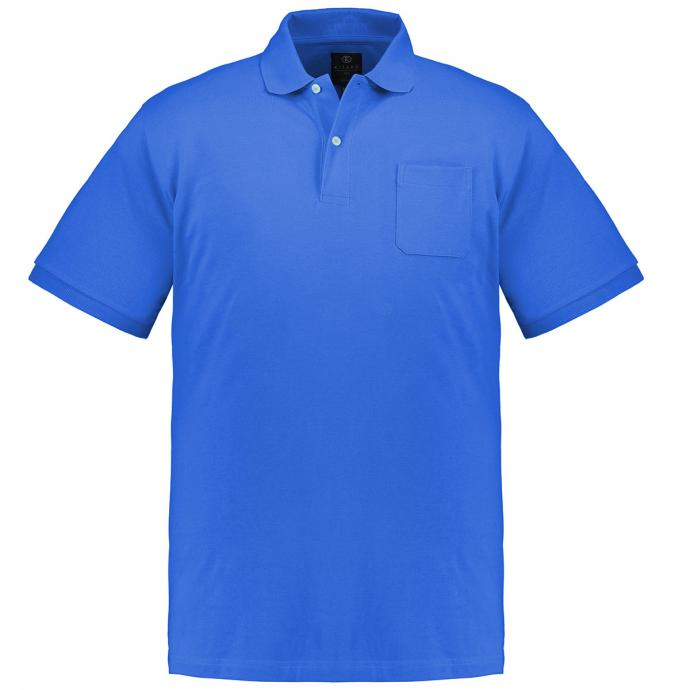 Basic-Poloshirt kurzarm königsblau_268 | 3XL
