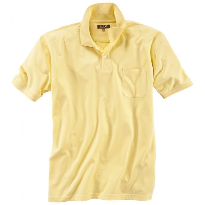 Basic Poloshirt aus Baumwolle gelb_301 | 6XL