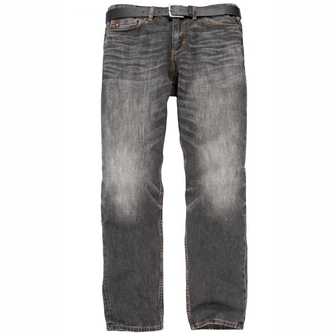 Jeans mit moderner used-Waschung grau_95Z4 | 42/30