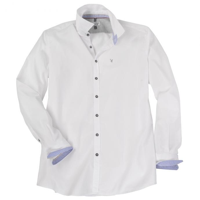 Modisches Trachtenhemd mit langem Arm weiß_900 | XXL