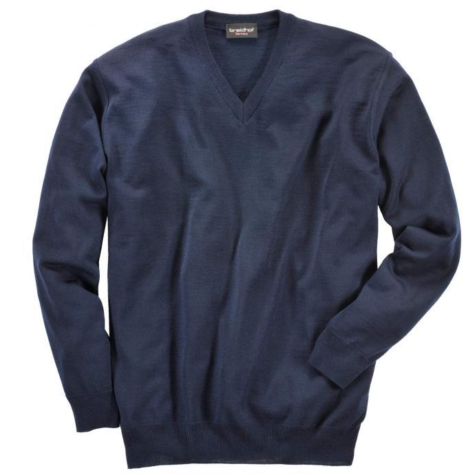 Strickpullover mit V-Ausschnitt dunkelblau_401   62