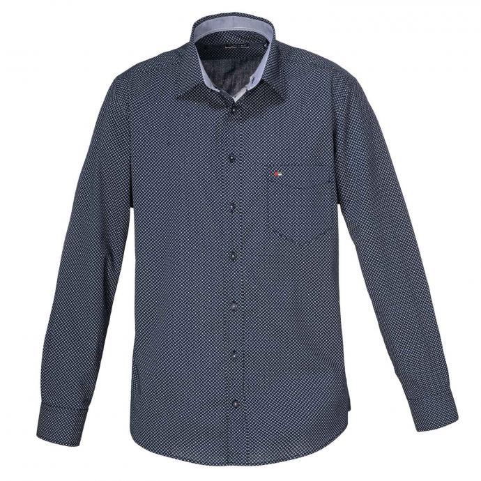 Baumwoll-Freizeithemd, langarm dunkelblau_178 | XXL