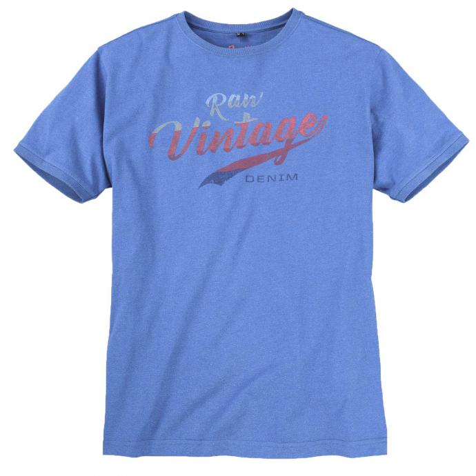 T-Shirt im Vintage-Look, kurzarm royalblau_5400   3XL