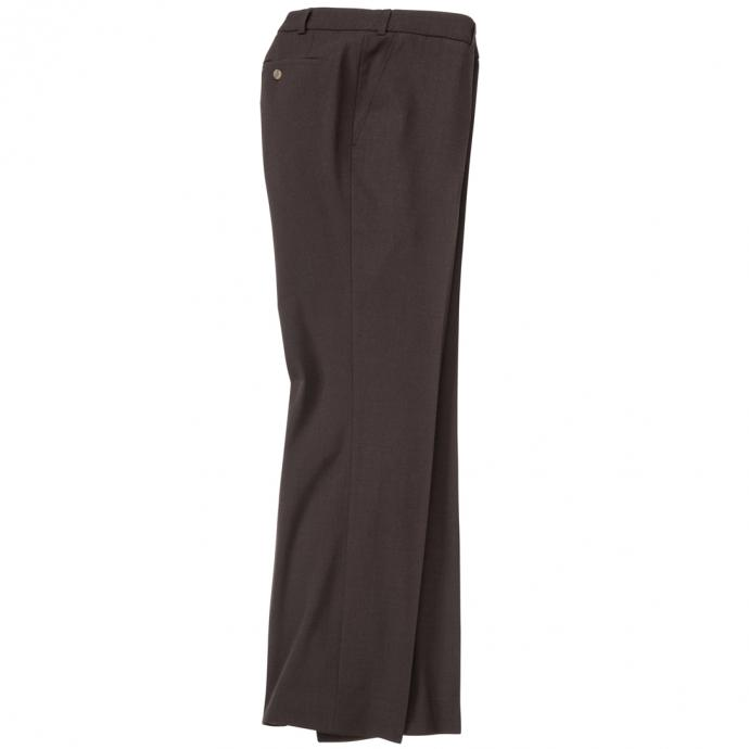 Leichte Wollhose mit extra Kurzleibbund und Stretch braun_49 | 35