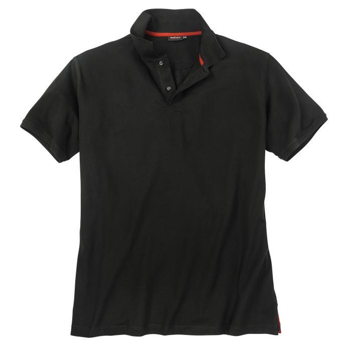 Poloshirt mit Elasthananteil, kurzarm schwarz_15 | 3XL