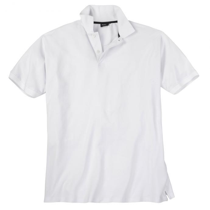 Poloshirt mit Elasthananteil, kurzarm weiß_16 | 3XL