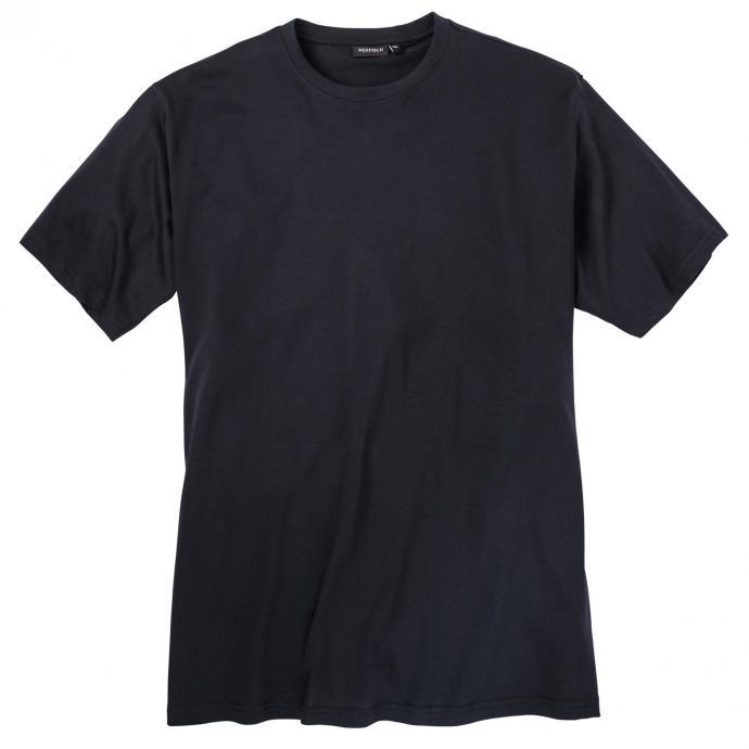 Schlichtes Basic-T-Shirt in bequemer Passform dunkelblau_01 | 3XL