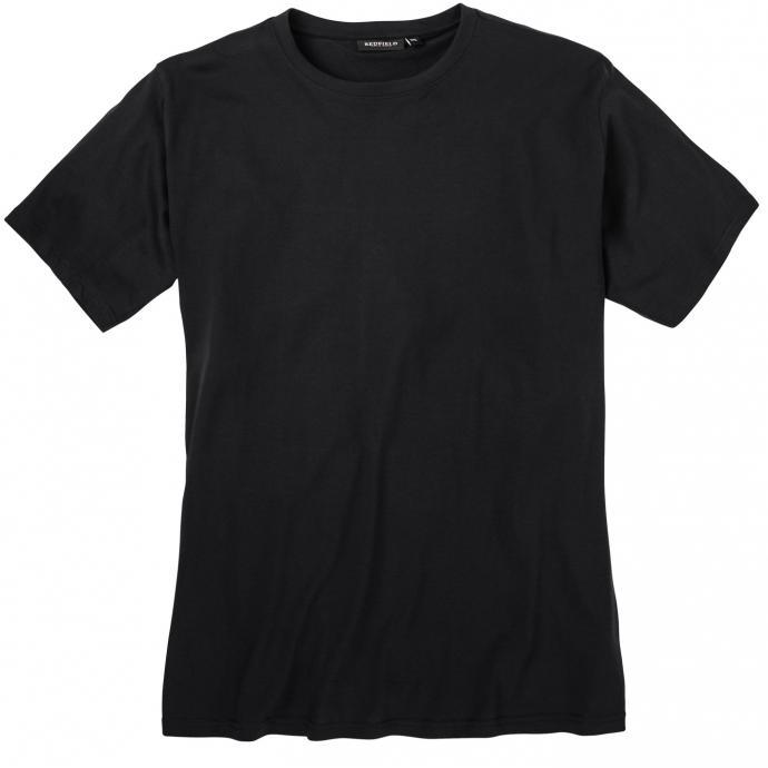 Schlichtes Basic-T-Shirt in bequemer Passform schwarz_15 | 3XL