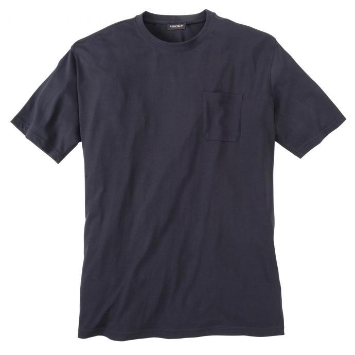 Basic T-Shirt mit Brusttasche dunkelblau_01 | 3XL