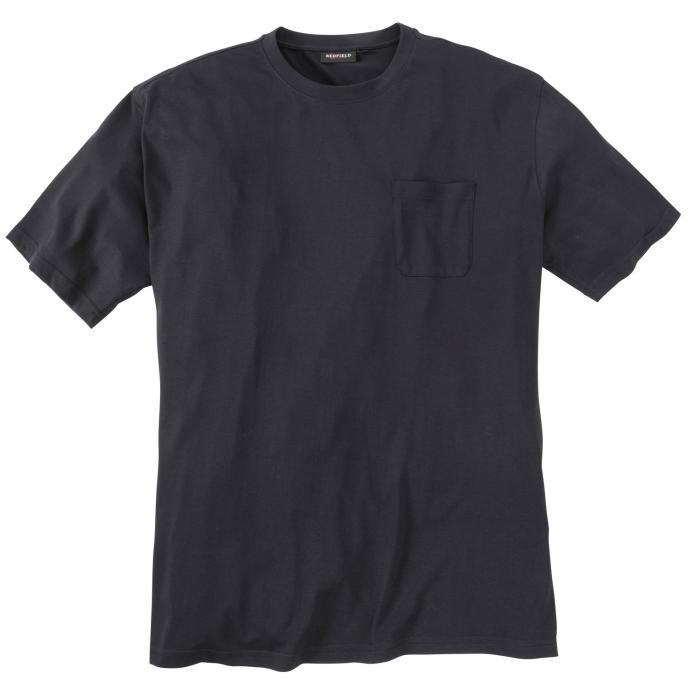 Basic T-Shirt mit Brusttasche schwarz_15 | 3XL