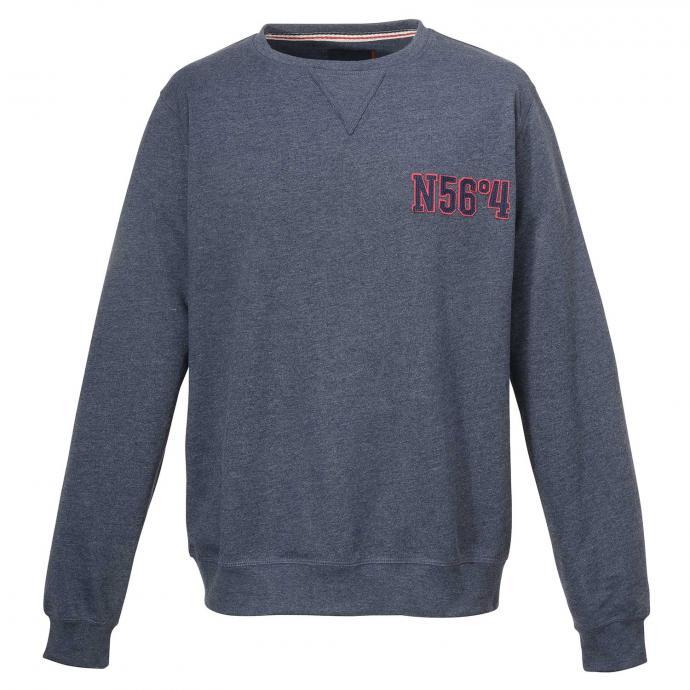 "Bequemes Sweatshirt mit ""N56°4""-Applikation blau_555   3XL"