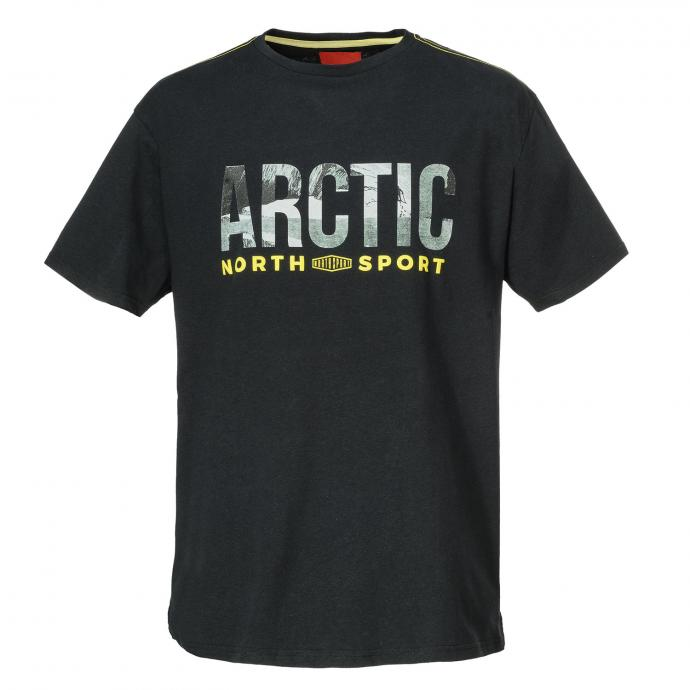 "Baumwoll-T-Shirt ""ARCTIC"" schwarz_099 | 3XL"
