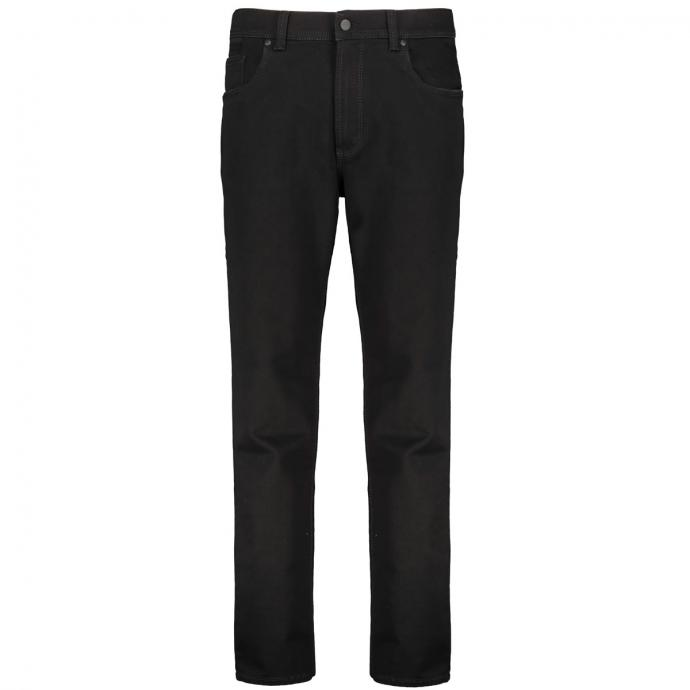 Jeans mit kontrastfarbenen Ziernähten Megaflex schwarz_11 | 58