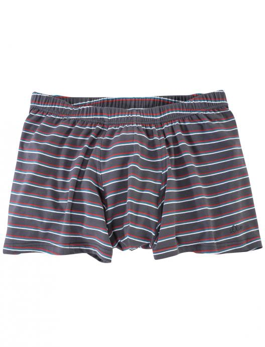 Gestreifte Boxerpants grau_98S2 | 3XL