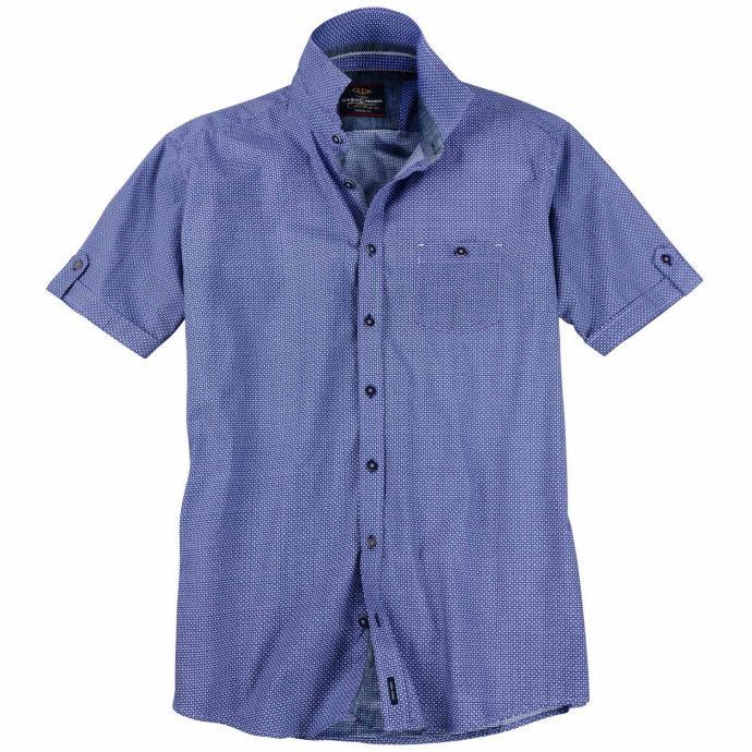 Kurzarmhemd mit dezentem Muster violett_900 | 3XL