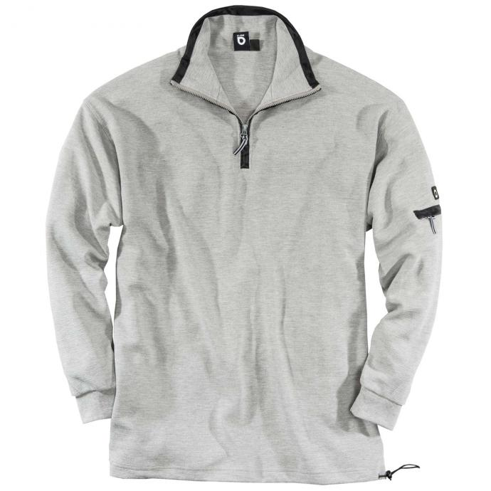 Sweatshirt Troyer Kragen grau_40 | 3XL