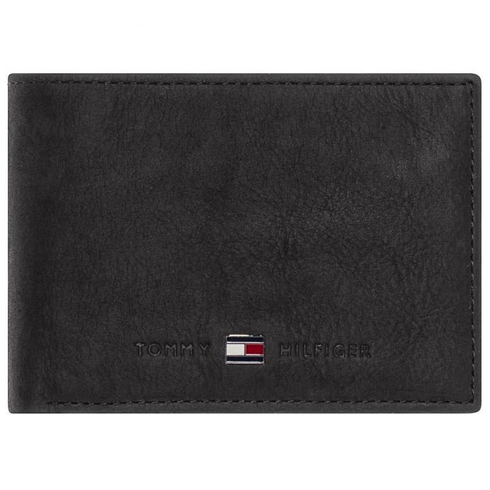 Kleine Brieftasche aus griffigem Leder schwarz_0020 | One Size