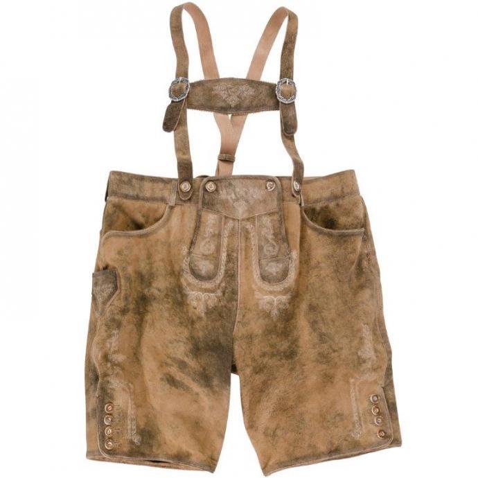 Kurze Trachten-Lederhose im Vintage-Look braun_DESERT | 62