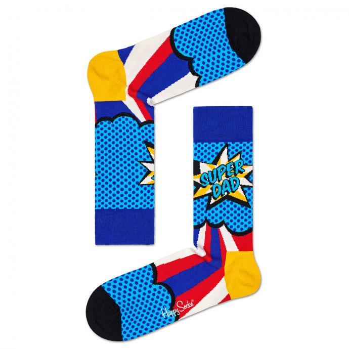 "Socke ""Super Dad"" blau/rot_6300 | 41-46"