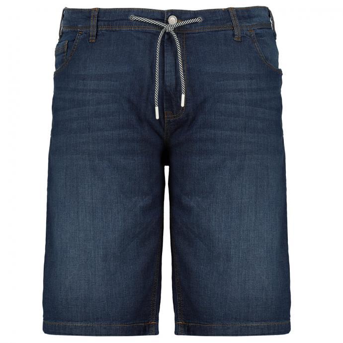 Leichte, bequeme Jeans-Short mit Kordelzug dunkelblau_4482 | W44