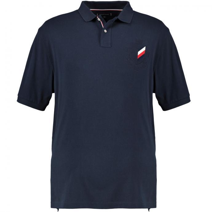 Poloshirt mit Tommy-Hilfiger-Logo dunkelblau_CJM | 3XL