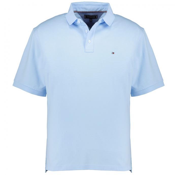 Pique-Poloshirt mit Logo-Stickerei, kurzarm hellblau_CDN | 3XL