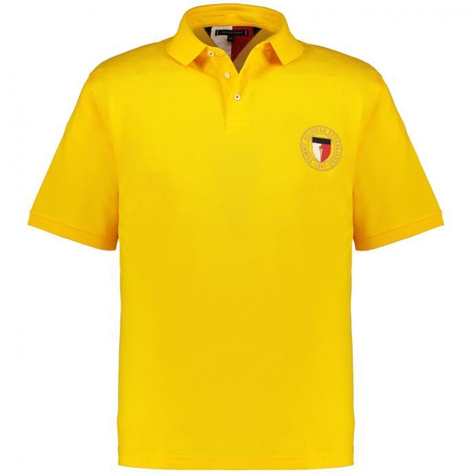 Poloshirt mit Hersteller-Logo gelb_ZFX | 3XL