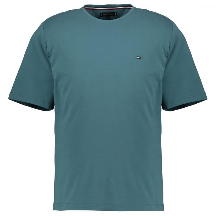 T-Shirt mit Logostickerei petrol_MSM | 3XL