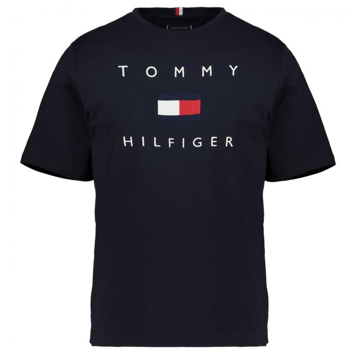 T-Shirt mit Tommy Hilfiger Stickerei marine_DW5 | 3XL