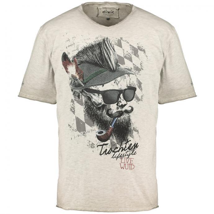T-Shirt kurzarm beige_0101 | 3XL