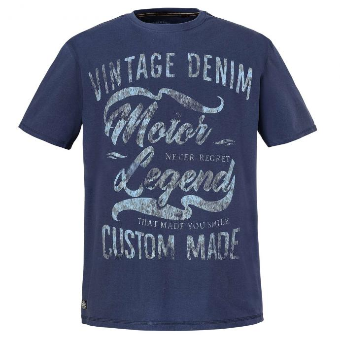 "T-Shirt ""Vintage Denim"" Frontprint jeansblau_189 | 3XL"
