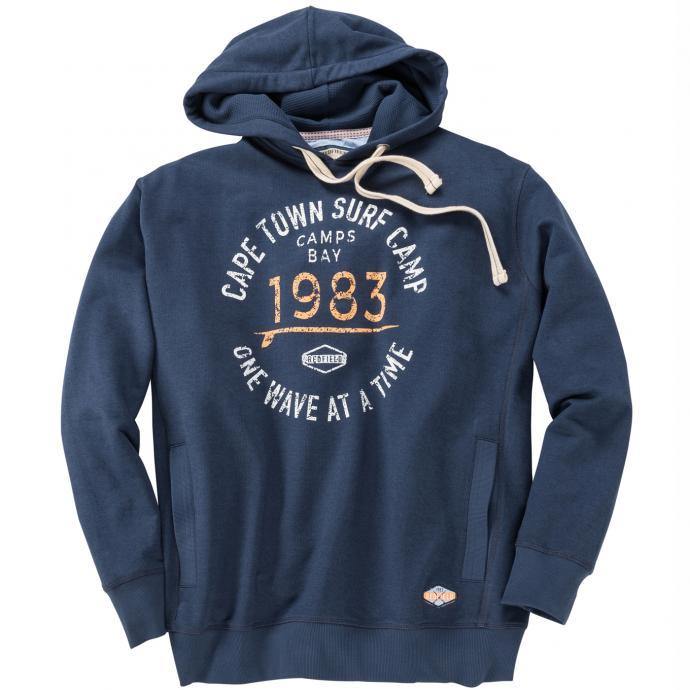 Baumwoll-Sweatshirt mit auffälligem Print jeansblau_189 | 3XL