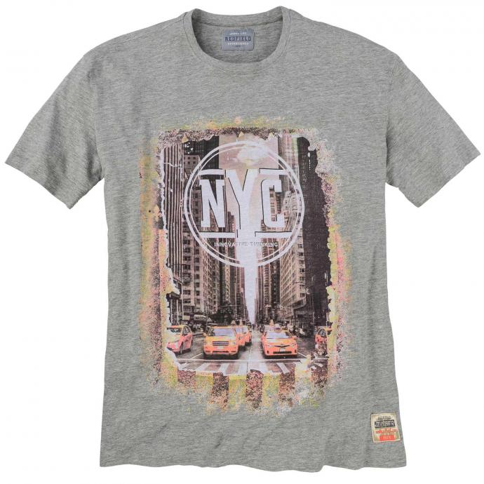 "T-Shirt mit ""New-York-City""-Print, kurzarm grau_89 | 3XL"