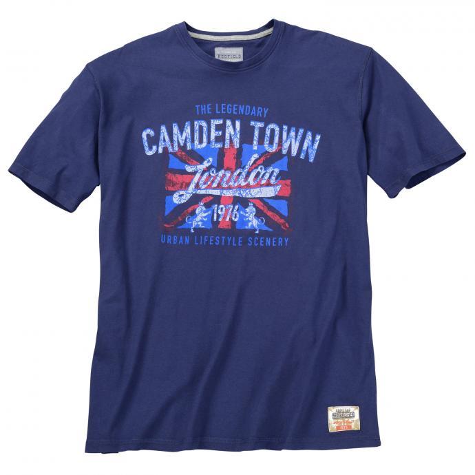 "T-Shirt mit ""Camden-Town""-Print, kurzarm dunkelblau_1890   3XL"